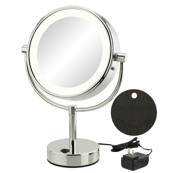 Jignesh Modern LED Lighted Metal Frame Makeup/Shaving Mirror by Orren Ellis