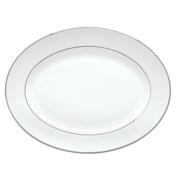 Opal Innocence Stripe Oval Platter by Lenox