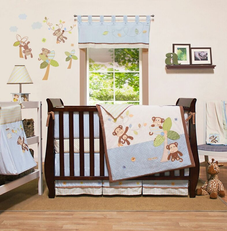 Clapp 100% Cotton Knit 4 Piece Crib Bedding Set