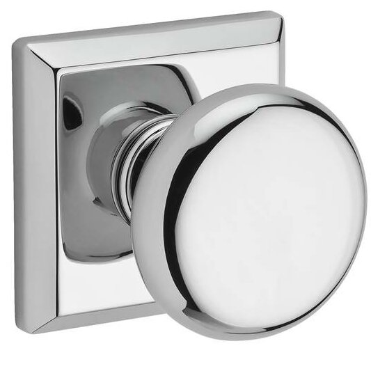 Round Passage Door Knob with Traditional Square Ro