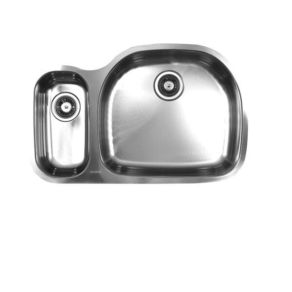 32.5 L x 17.75 W Undermount Double Bowl Stainless Steel Kitchen Sink by Ukinox