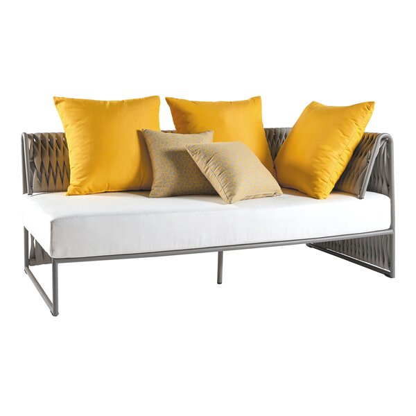 Pascarella Right Arm Loveseat with Cushions by Bungalow Rose