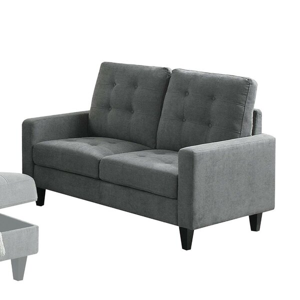 Rockwood Upholstered Straight Armrest Loveseat by Wrought Studio