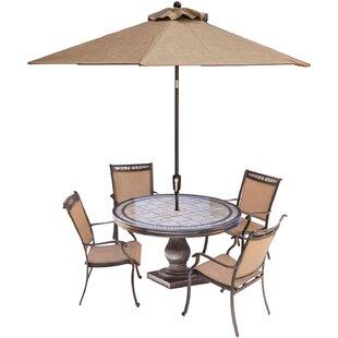 Bucher 5-Piece Outdoor Dining Set ByFleur De Lis Living