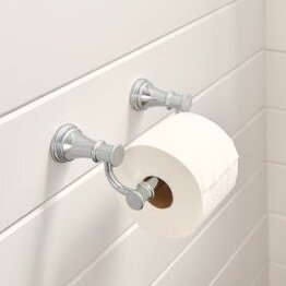 Belfield Pivoting Wall Mount Toilet Paper Holder by Moen