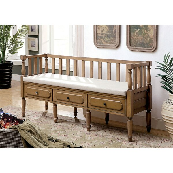 Uribe 3 Drawer Wood Storage Bench by Gracie Oaks