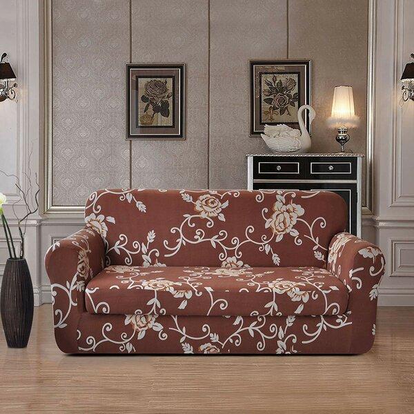 Urlfy Stylish Printed Box Cushion Loveseat Slipcover By Red Barrel Studio