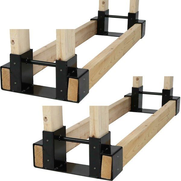 Canales Steel DIY Brackets Adjustable Kit Firewood Holder Log Rack (Set Of 2) By Symple Stuff