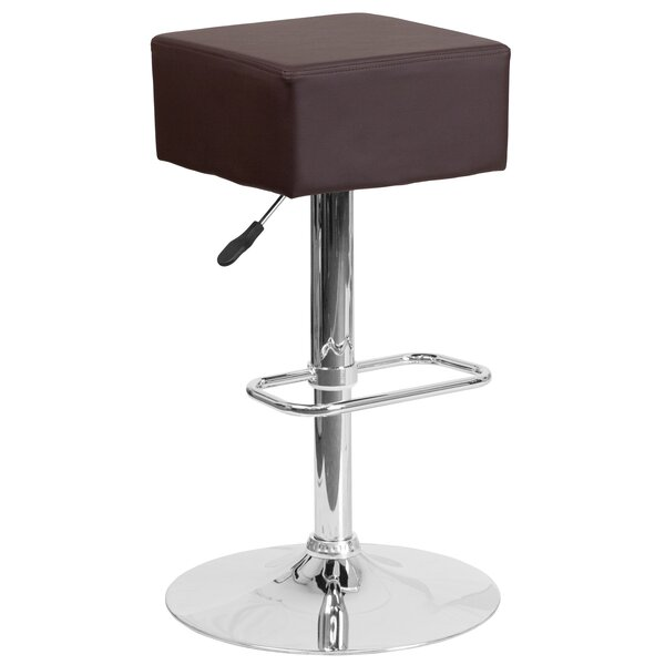 Nordman Adjustable Height Swivel Bar Stool by Orren Ellis