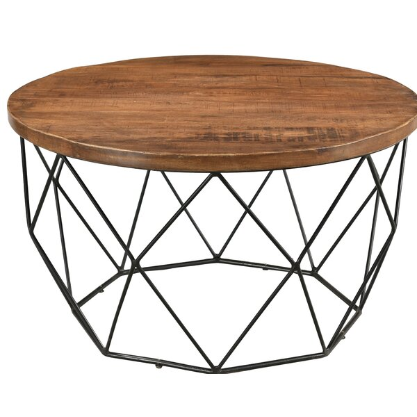 Fatima Round Cocktail Table with Tray Top by Union Rustic Union Rustic