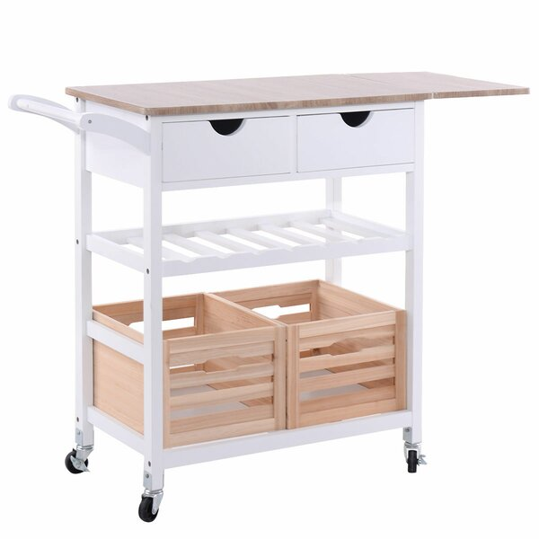 Krause Rolling Kitchen Cart with PVC Top by Rebrilliant