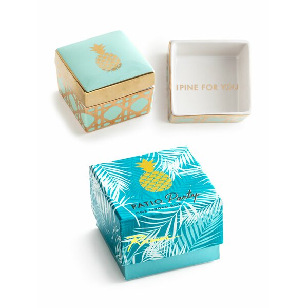 Patio Party Pineapple Jewelry Box by Rosanna