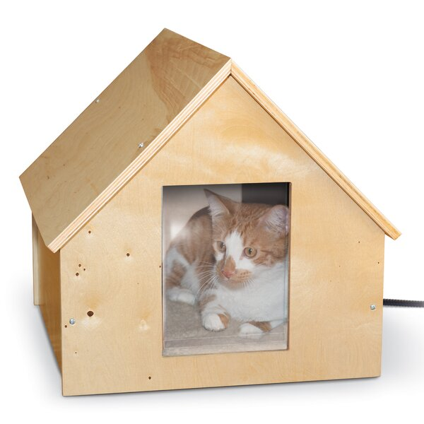 Manor Birchwood Thermo Kitty House (Heated) by K&H Manufacturing