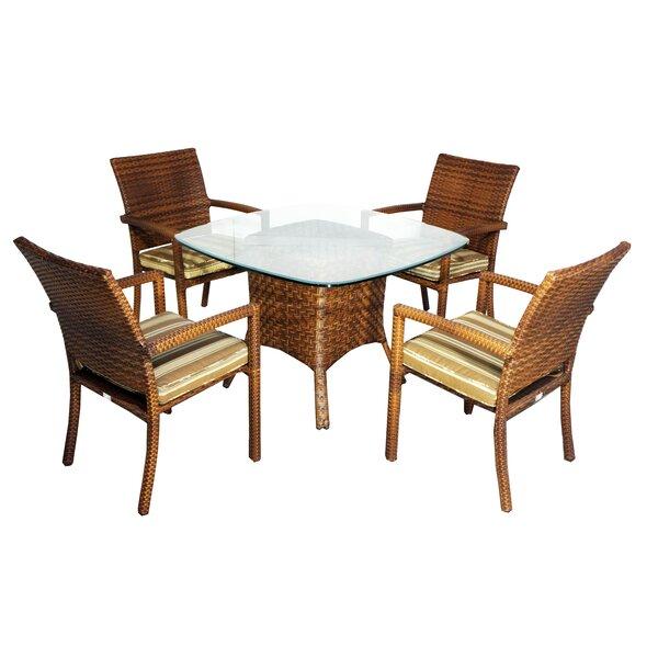 Hardage 5 Piece Dining Set with Cushions by Highland Dunes