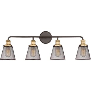 Modern williston forge vanity lighting allmodern dillingham 4 light vanity light mozeypictures Images