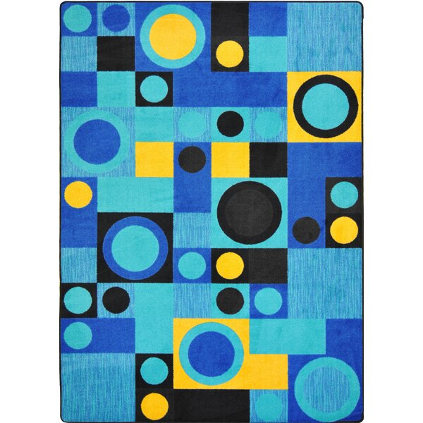 Hand-Tufled Black/Blue Area Rug by The Conestoga Trading Co.