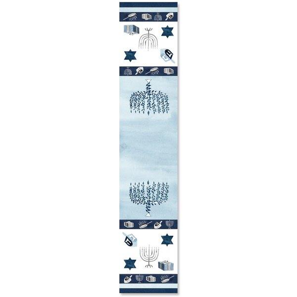 Happy Hanukkah Table Runner by The Holiday Aisle
