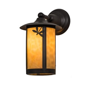 Reviews Fulton Dragonfly 1-Light Outdoor Wall Lantern By Meyda Tiffany