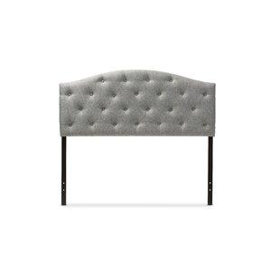 Myra Grey Scalloped Full Upholstered P..