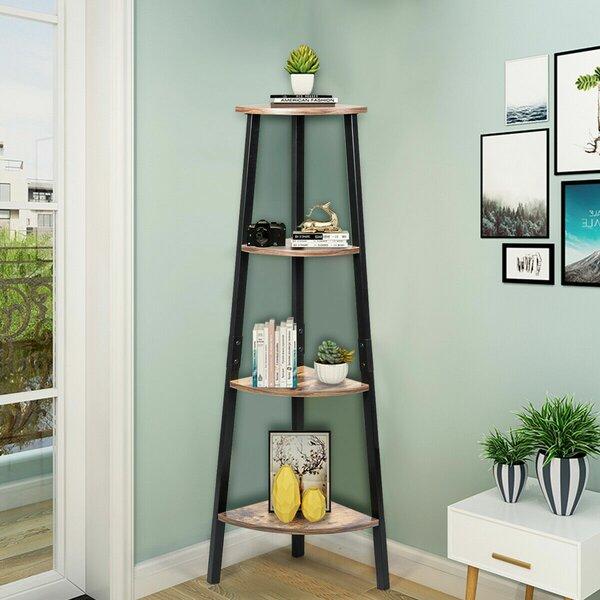Everglade 4-Tier Corner Standard Bookcase By Gracie Oaks