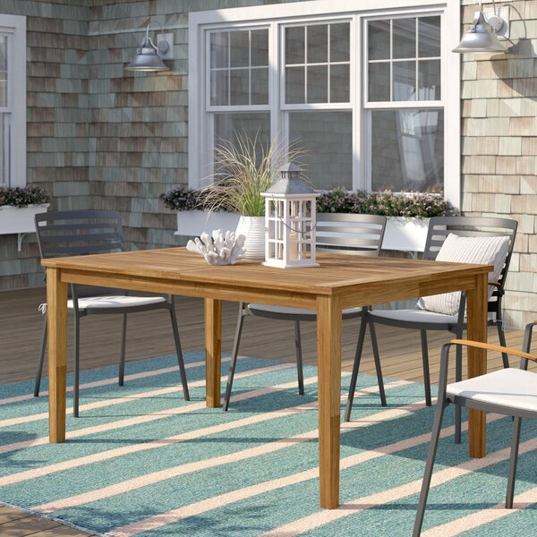 Elaina Solid Wood Dining Table by Beachcrest Home Beachcrest Home