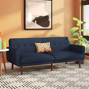 Nathanael Modern Velvet Convertible Sofa