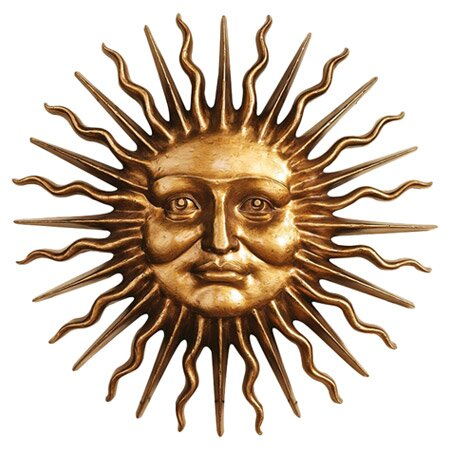 arts and face canada wall luxury decor sun moon outdoor metal art