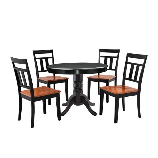 New Nixon 5 Piece Solid Wood Dining Set By Millwood Pines Spacial Price