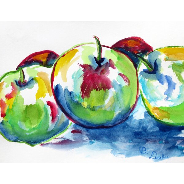 Three Apples Placemat (Set of 4) by Betsy Drake Interiors