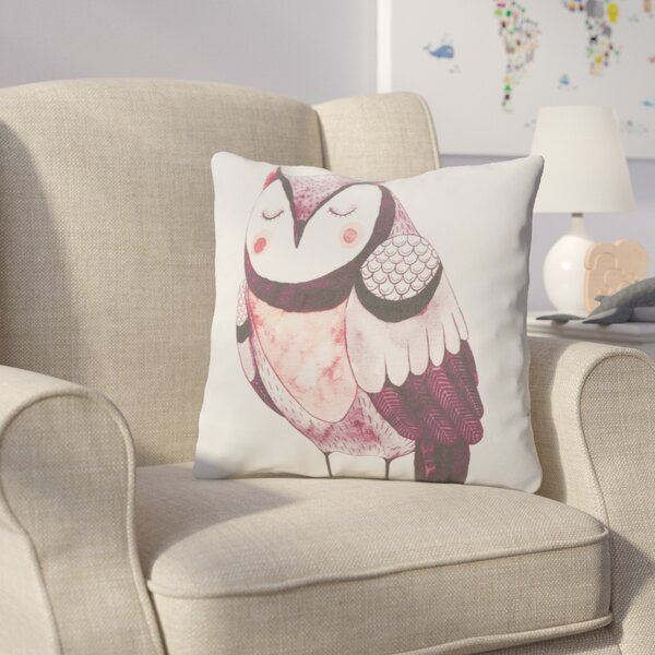 Cooke Resting Owl Cotton Throw Pillow by Harriet Bee