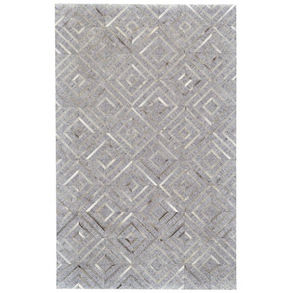 Grossi Hand-Woven Bisque/Storm Area Rug by Wrought Studio