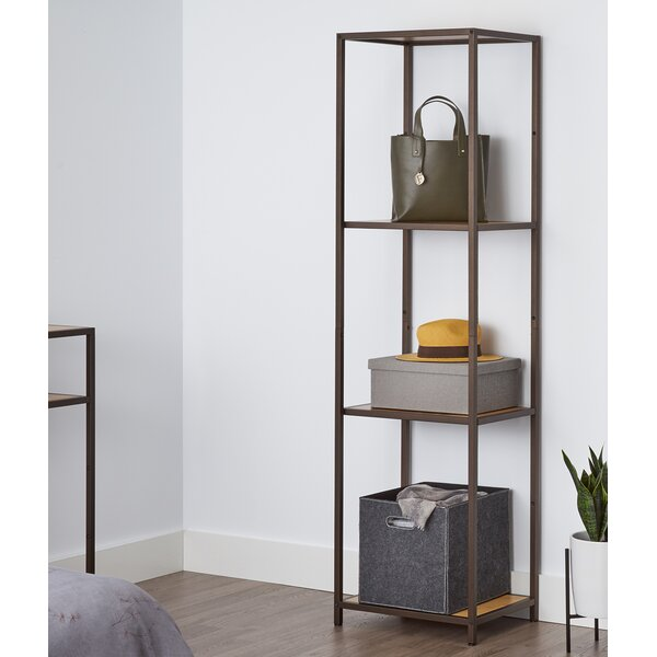 72 H x 15 W 4 Tier Bamboo Shelving Unit by Trinity