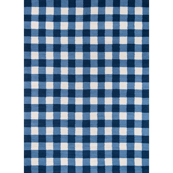 Cavallo Hand-Hooked Blue Area Rug by Gracie Oaks