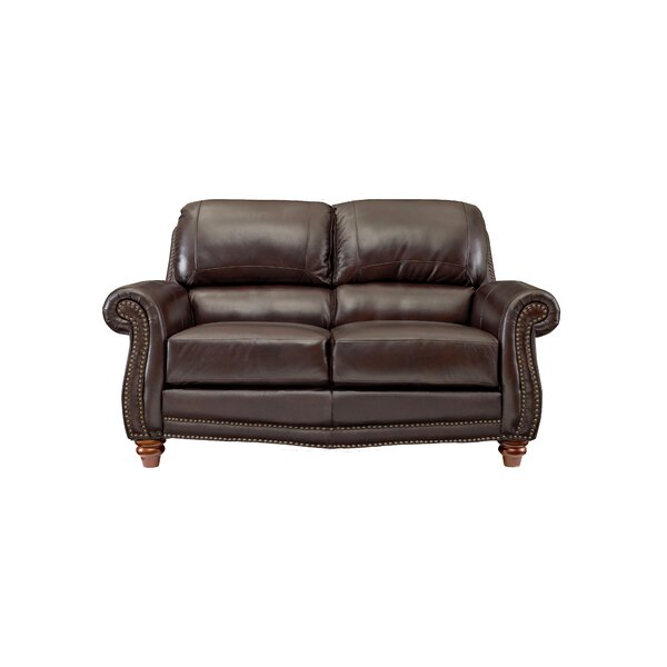 Dorcas Leather Loveseat by Canora Grey