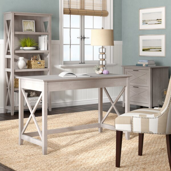 Beachcrest Home Cyra Desk, Bookcase and Filing Cabinet Set