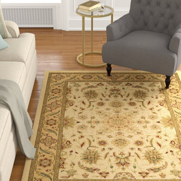 Ottis Cream/Tan Area Rug by Charlton Home