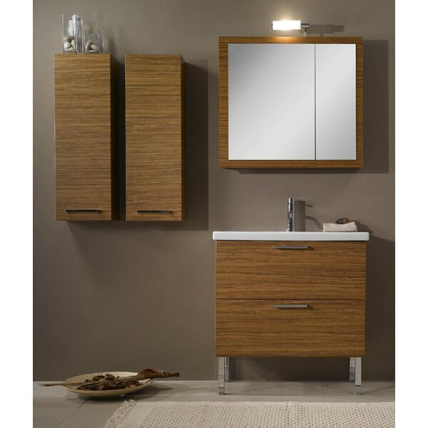 Luna 32 Single Bathroom Vanity Set with Mirror by Iotti by Nameeks