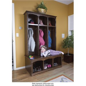 2 Piece Sit and Store Hall Tree Set