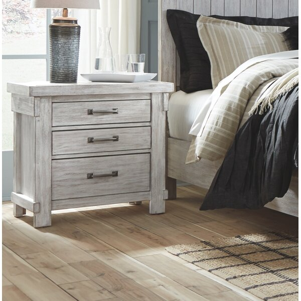 Rovner 3 Drawer Nightstand by Gracie Oaks