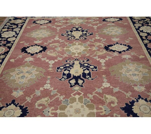Southington Oushak Oriental Hand-Knotted Wool Red/Burgundy Area Rug by Bloomsbury Market