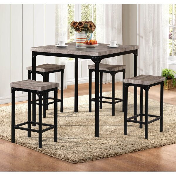 Breen 5 Piece Pub Table Set by Latitude Run