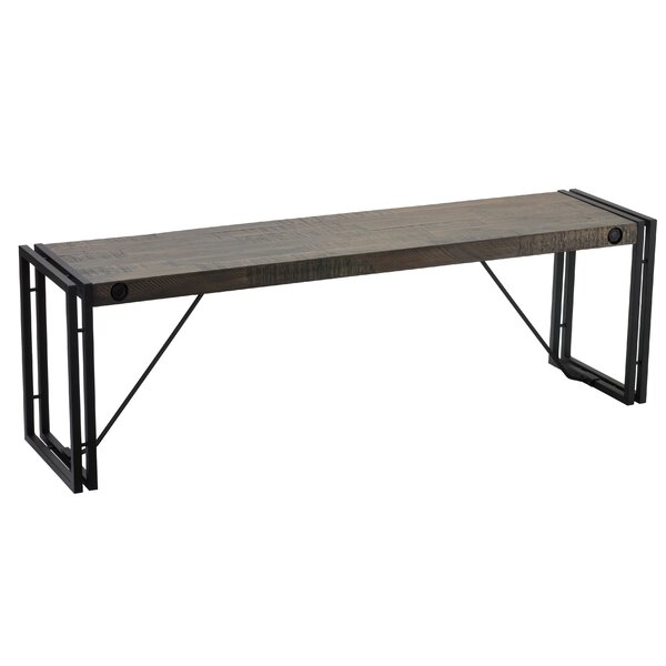 Cebes Metal/Wood Bench by Ebern Designs Ebern Designs