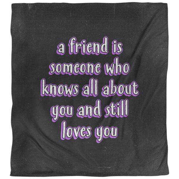 Love & Friendship Quote Single Duvet Cover