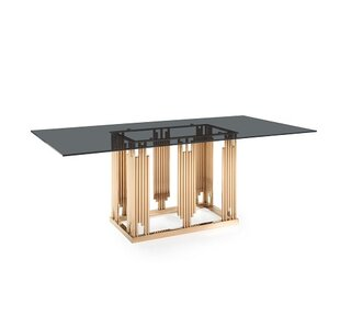 Best Price Larena Glass and Dining Table ByWilla Arlo Interiors