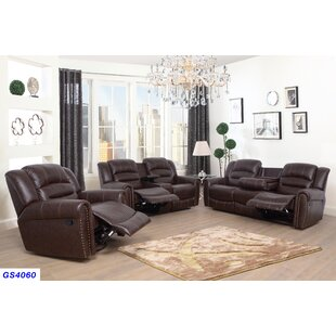 Kora 3 Piece Reclining Living Room Set by Red Barrel Studio®