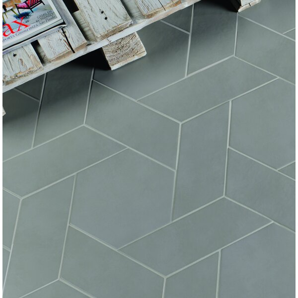 Cement Series 4 x 10 Porcelain Field Tile in Grey by Walkon Tile
