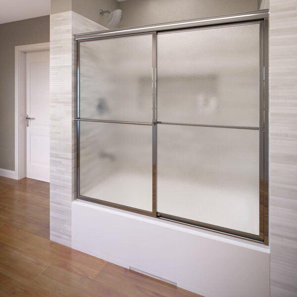 Deluxe 47 x 56 Framed Bypass Sliding Tub Door by Basco