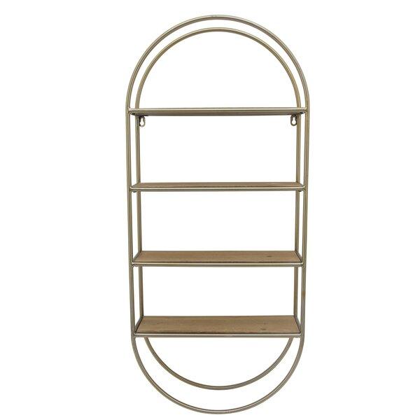 Kennelly Metal/Wood 3 Tier Wall Shelf by Wrought Studio