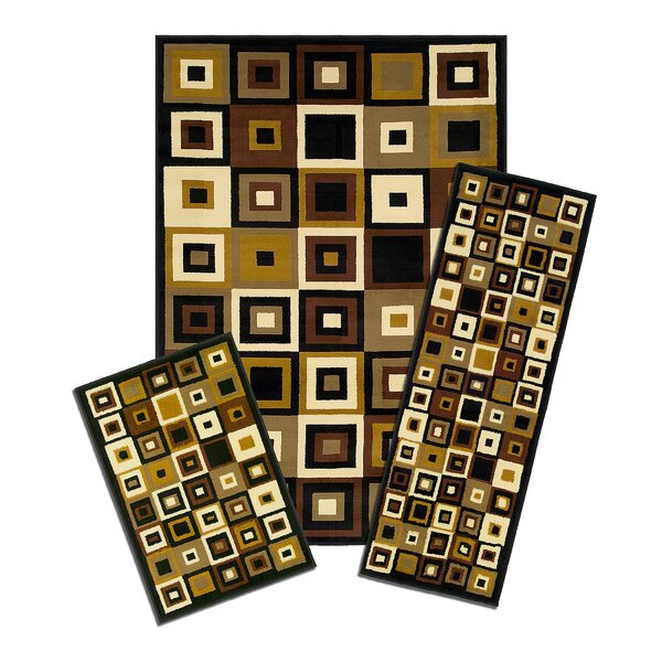 Capri 3 Piece SW Tiles Area Rug Set by Achim Importing Co