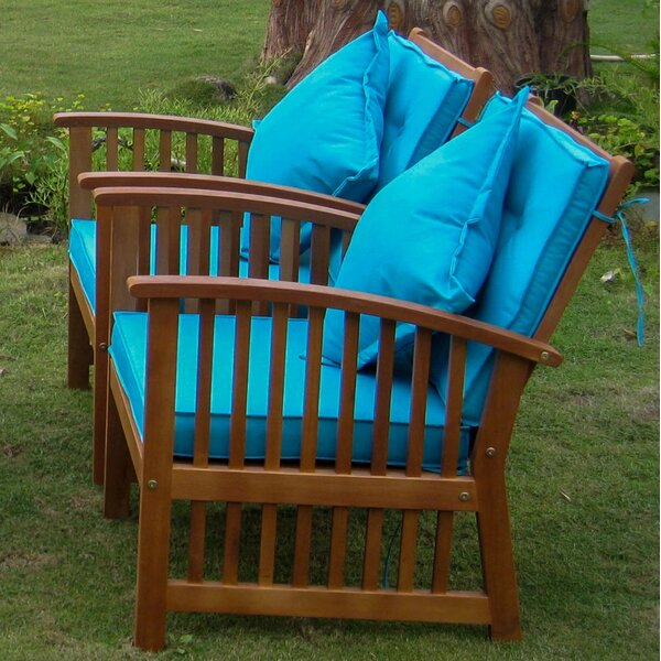 Sabbattus Arm Chair with Cushion (Set of 2) by Breakwater Bay